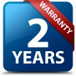 2 years warranty glossy blue square button — Stock Photo #56513839