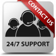 Contact us 24by7 Support glossy white square button — Stock Photo #56514667
