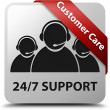 Customer care 24by7 Support glossy white square button — Stock Photo #56514687