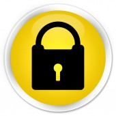 Lock icon yellow button — ストック写真