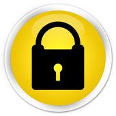 Lock icon yellow button — Foto de Stock