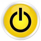 Power icon yellow button — ストック写真