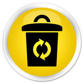Trash icon yellow button — Stock Photo