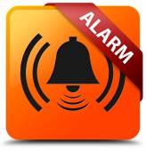 Alarm glossy yellow square button — Stockfoto