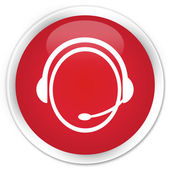 Customer care icon red button — Foto Stock