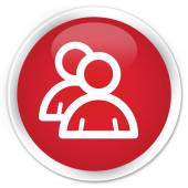 Groep pictogram rode knop — Stockfoto