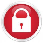 Lock icon red button — Stock fotografie