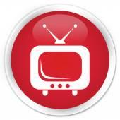 TV icon red button — Fotografia Stock