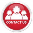 Contact us (customer care team icon) red button — Stock Photo #56620015