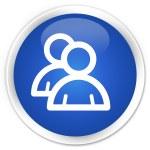 Group icon blue button — Stock Photo #56627289