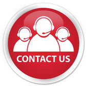 Contact us (customer care team icon) red button — Foto Stock