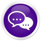 Chat icon purple button — Stockfoto