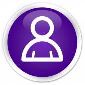 Lid pictogram paarse knop — Stockfoto