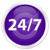 24by7 purple button — Foto Stock
