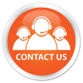 Contact us orange button — Foto Stock