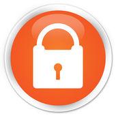 Padlock orange button — Stock fotografie