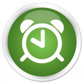 Alarm icon green button — Foto Stock