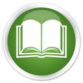 Book icon green button — Stock Photo