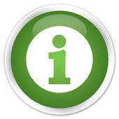 Info icon green button — Stock Photo
