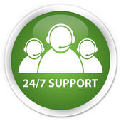 24by7 support team green button — Foto Stock