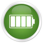 Battery icon green button — Stock Photo