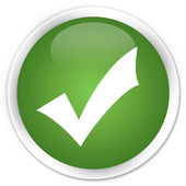 Validate icon green button — Stock Photo