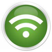 Wifi icon green button — Stock Photo
