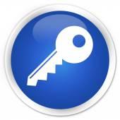 Key icon blue button — Stockfoto