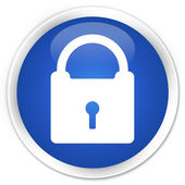 Padlock icon blue button — Stockfoto