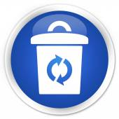 Trash icon blue button — Stock Photo