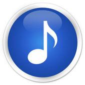 Music icon blue button — Stock Photo