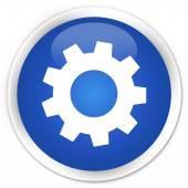Процесс настройки синий значок кнопки — Стоковое фото