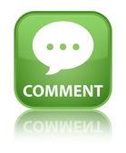 Verde lucido commento riflette il tasto quadrato — Foto Stock