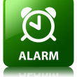 Alarm glossy green reflected square button — Stock Photo #56781939