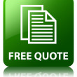 Free quote glossy green reflected square button — Stock Photo #56782403