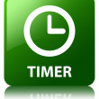 Timer glossy green reflected square button — Stock Photo #56782805
