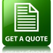 Get a quote (page icon) glossy green reflected square button — Stock Photo #56786817