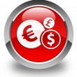 Finance icon glossy red round button — Stock Photo #56788943