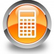 Calculator icon glossy orange round button — Stock Photo #56794177