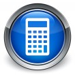 Calculator icon glossy blue button — Stock Photo #56798003