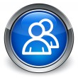 Group icon glossy blue button — Stock Photo #56798391