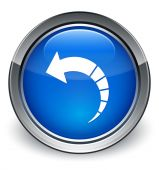 Back rotate arrow icon glossy blue button — Stock Photo