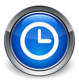 Watch icon glossy blue button — Fotografia Stock