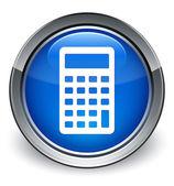 Calculator icon glossy blue button — 图库照片