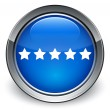 Review (5 star) icon glossy blue button — Stock Photo #56800433