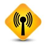 Wlan network icon yellow button — Stock Photo #56808589