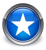 Значок звезды глянцевая синяя кнопка — Стоковое фото