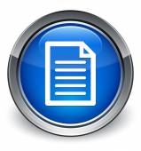 Quote page icon glossy blue button — 图库照片