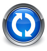Update icon glossy blue button — 图库照片