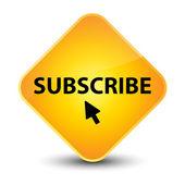 Subscribe yellow diamond button — Stock Photo